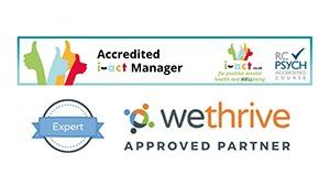 accreditation logos bottom right